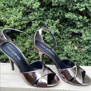 Brand New Pour La Victoire platinum shoes, 10